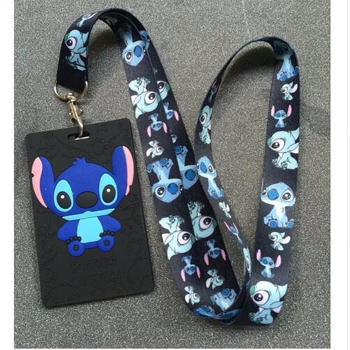 New 1Pcs cartoon stitch Lanyard ID Badge Holder Key Neck Strap kids gifts QW-327