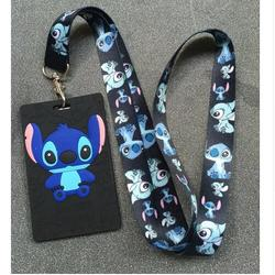 Nieuwe 1Pcs Cartoon Stitch Lanyard Id Badge Houder Key Neck Strap Kids Geschenken QW-327