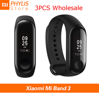 3PCS/lot Xiaomi Mi Band 3 Sport Smart Band Fitness Bracelet Smart Wristband Pedometer Heart Rate Touch Screen Xiomi Smartband 3