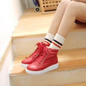 Image 4 - Zapatos My Hero Academia Izuku Midoriya para Cosplay, zapatos casuales de lona vulcanizados para mujer, zapatos altos con cordones, calzado de verano