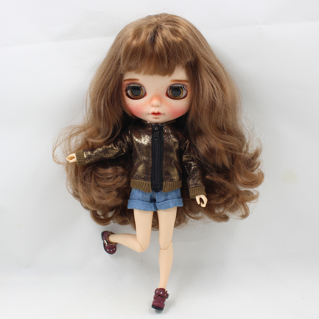 Neo Blythe Doll Shining Brown Coat