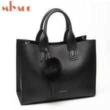 Miyaco 女性ハンドバッグの女性レザー財布やハンドバッグ女性ハンドバッグ毛皮のボールタッセルブランドメッセンジャーバッグ
