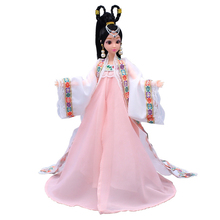 12 Moveable Joints 3D Eyes Doll Body With Head Female Action Figure Dolls Toy For Girls Plastic Chinese Style Princess