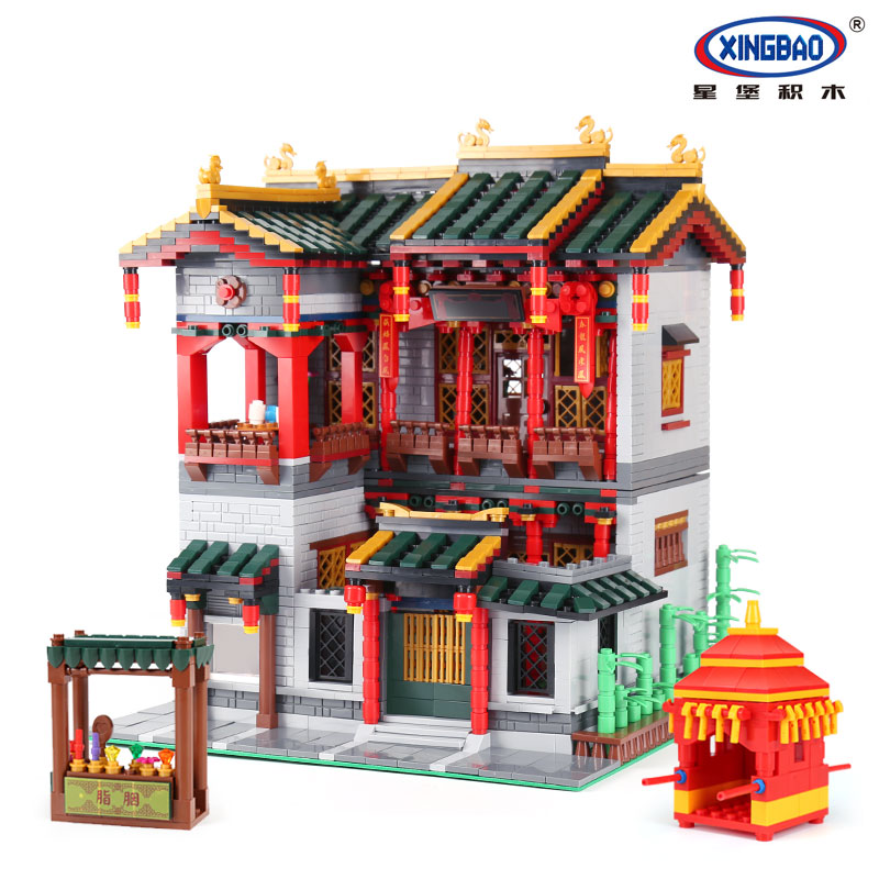 XingBao 01003 MOC Series The Chinese Traditional Architecture Set Children Educational Building Blocks Bricks funny legoing Toys mini architecture series 4 cubicfun 3d educational puzzle paper