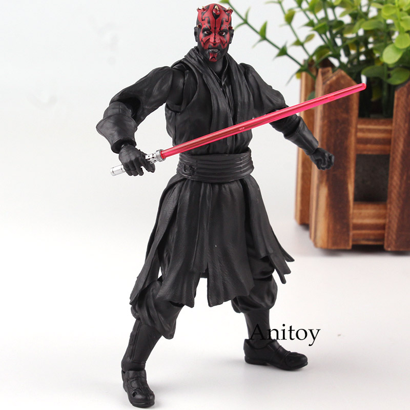 SHFiguarts Star Wars Figure Star War Toy Darth Maul Action Figure Darth Maul Figurats With Lightsaber Doll Figurine 14.5cm