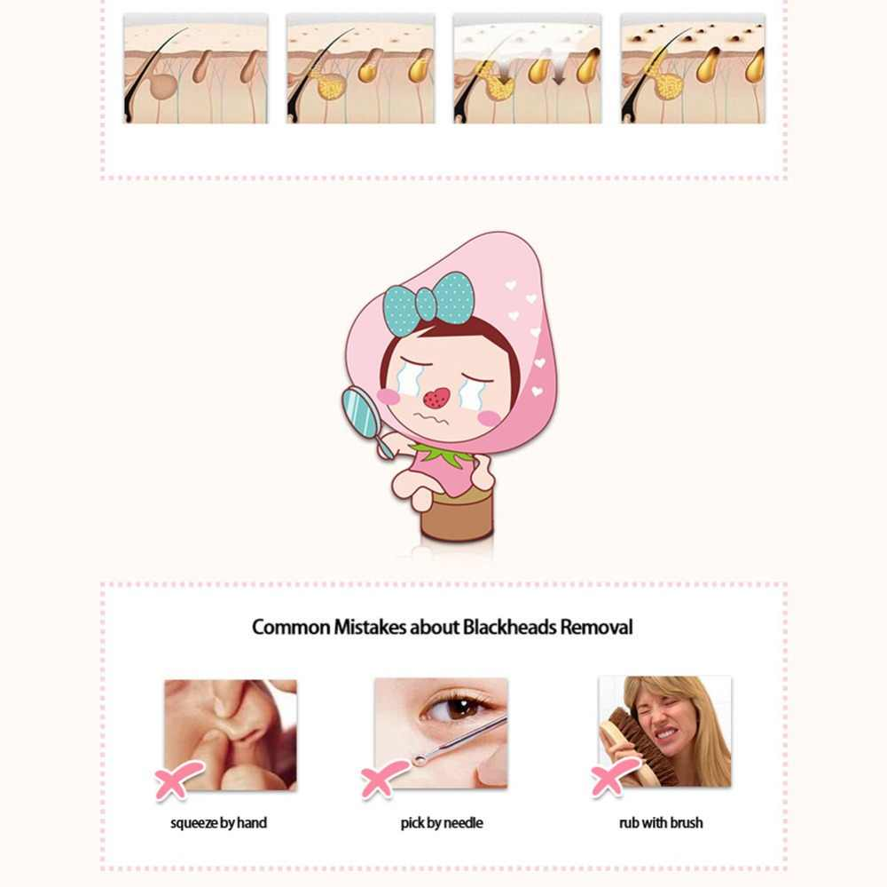 BIOAQUA 3 ขั้นตอน BLACK HEAD Remover ชุดหน้ากากใบหน้าเครื่องสำอางเกาหลีผิว Peeling หน้ากาก Blackhead หน้ากาก Make Up Beauty