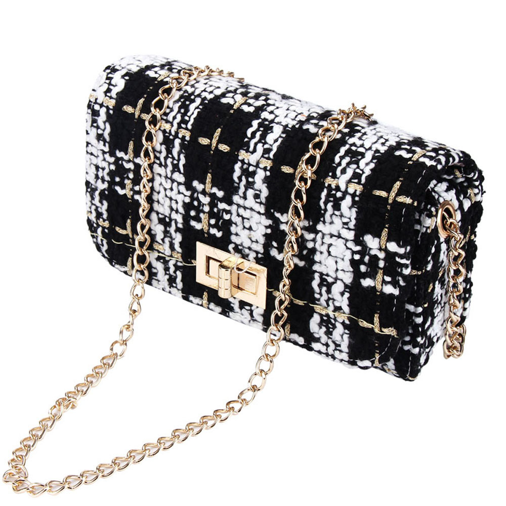 Luxury Chains Designer Woman Polyester Messenger Bag Girl Shoulder Bag Casual Small Handbag Harsp Woman Bag For Party Cluch #Yl5 by Ali Express.Com