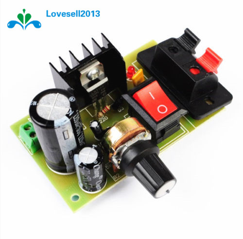 LM317 DC 5V-35V DIY Kit Step-Down Power Supply Module AC/DC Adjustable Voltage Regulator With On/Off Switch Free Shipping