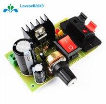 LM317 DC 5V 35V DIY Kit módulo de fuente de alimentación reductor AC/DC regulador de tensión regulable con interruptor de encendido/apagado