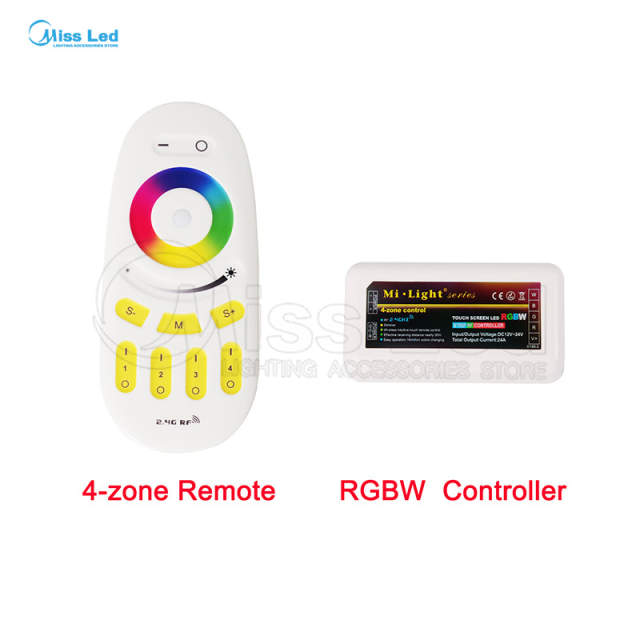 US $5 27 25% OFF|2 4G 4 zone RGBW LED Controller,Wireless RF Touch  Remote,WiFi Mi Light For 3825 5050 RGB Modules Strip Different  Combination-in RGB