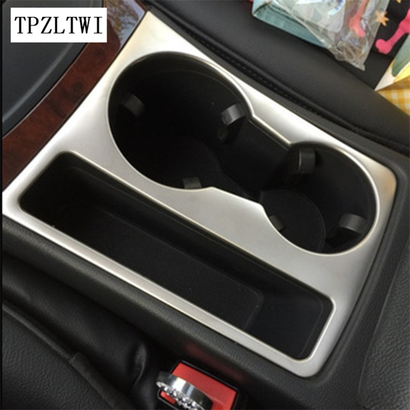 Car Styling Car Water Cup Holder Frame Decal Trim Cover Interior 3D Sticker Accessories For Audi A4 B6 B8 B7 B5 A4L S4 RS4 A5 S8