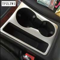 Car Styling Car Water Cup Holder Frame Decal Trim Cover Interior 3D Sticker Accessories For Audi