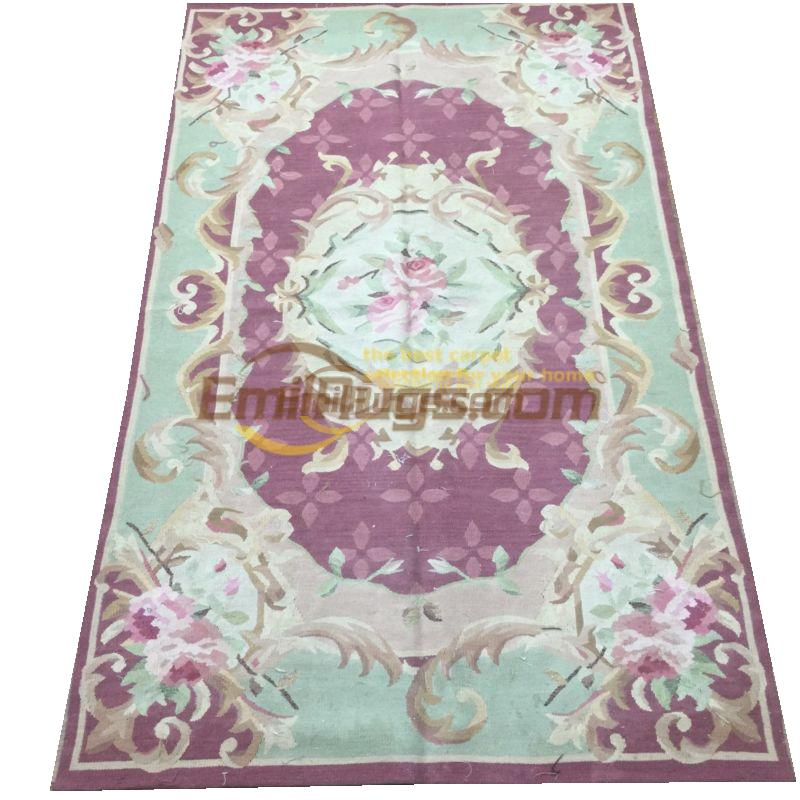 Antique Aubusson Style Neo Classical Carpet Aubusson Needle Oriental Carpet Hand-knotted Wool Handmade New ListingAntique Aubusson Style Neo Classical Carpet Aubusson Needle Oriental Carpet Hand-knotted Wool Handmade New Listing