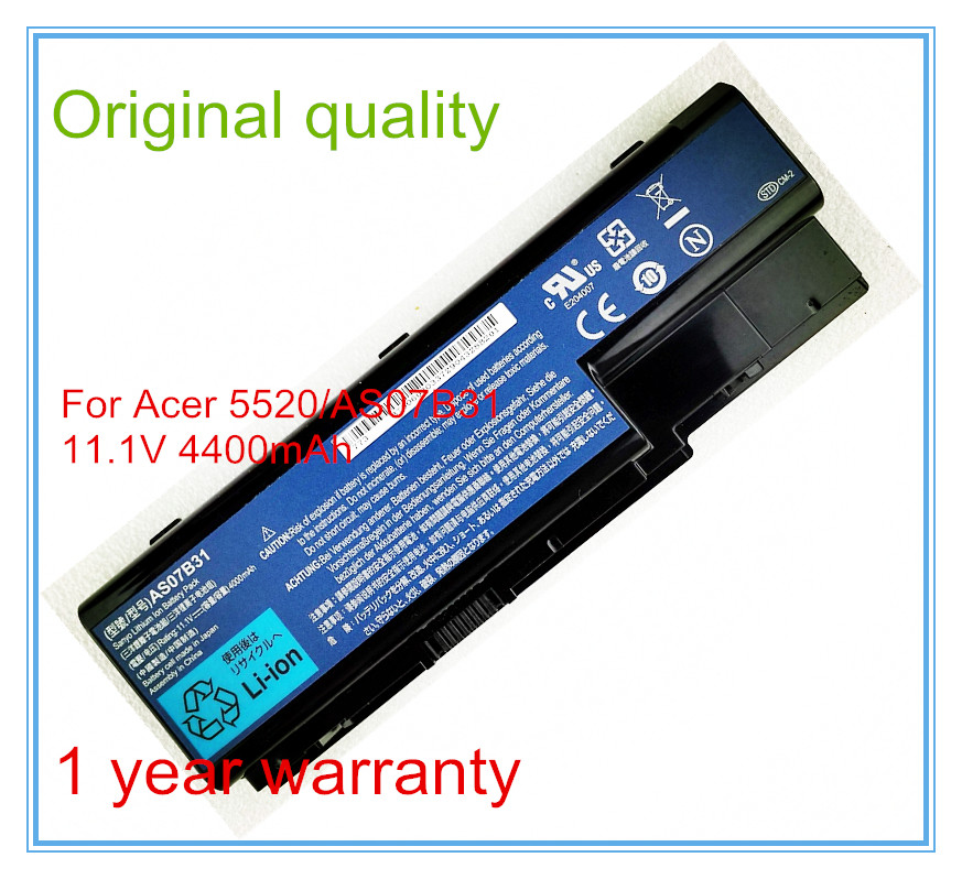 11.1V 4400mAh Original New Laptop Battery AS07B31 for 5920 5920G 5930 5930G 5935 6930G 8943G AS07B32 AS07B71 AS07B61 voennoplennye v shaxterske 31 07 2014