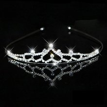 New Girl Hair Band Headband Bridal Princess Stunning Crystal Tiara Wedding Crown