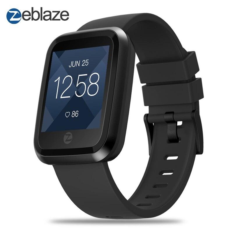 Nouveau Zeblaze Cristal 2 Smartwatch 2.5D 1.29 pouces Couleur Écran Gorilla Glass IP67 Étanche Moniteur de Fréquence Cardiaque De Mode Montre Smart Watch