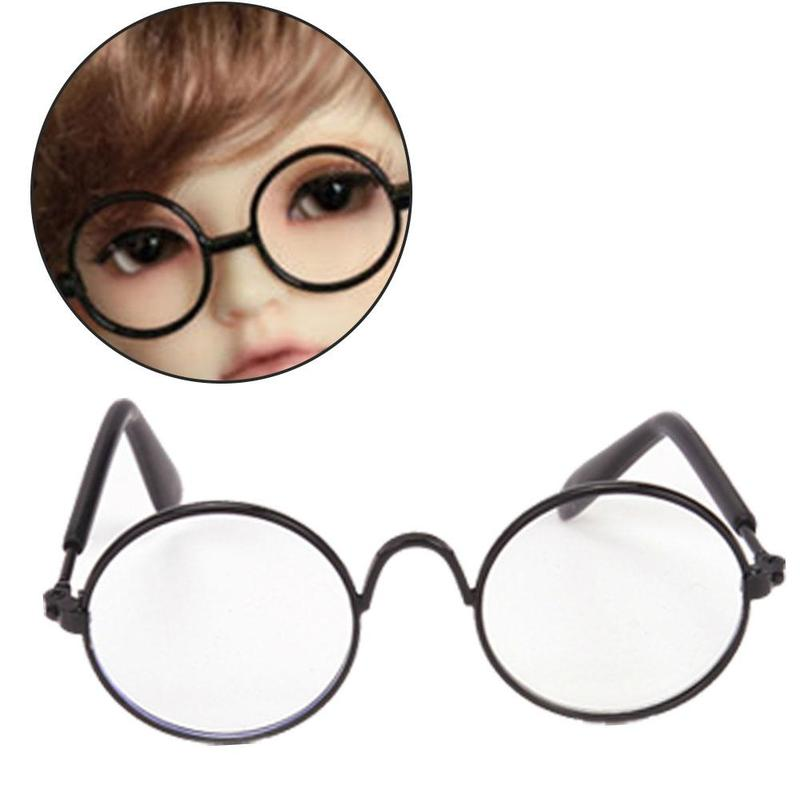 Hot Sale Doll Toy Cool Sunglasses Prop Mix-color Fashion Round Frame Retro Cool Doll Glasses For 18 Inches Doll Doll Accessories
