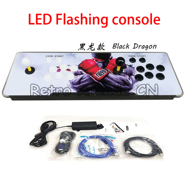Pandora 6S 1399 in 1 arcade game console with LED Flashing Acrylic Panel  for home game