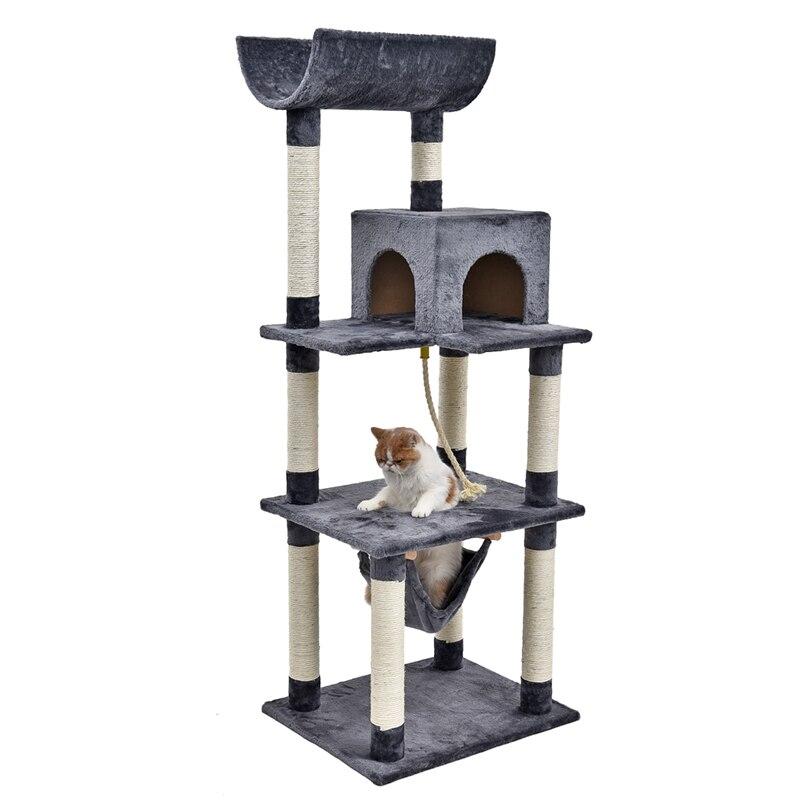 Nuova Venuta Giocattolo Pet Gattino Gatto Arrampicata Giocattolo Divertente Stabile Prodotto Dell'animale Domestico Alla Moda e Semplice Design A tre Piano Cat arrampicata Albero