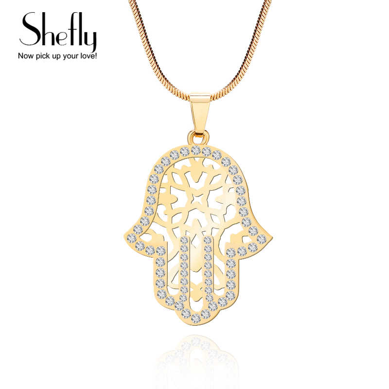 Ball Round Blue Crystal Lucky Eyes Pendant Necklaces for Women Collares Jewelry