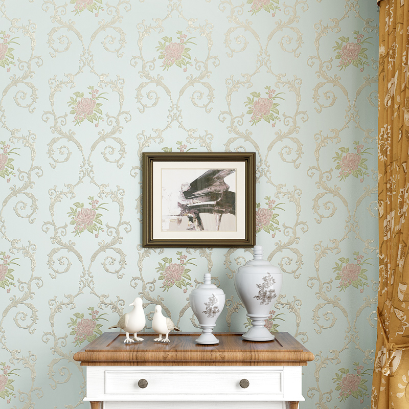 Romantic Floral Wallpaper For Walls Non Woven Flower Wall Paper Roll 3D Rustic Bedroom Wallpapers Contact In From Home