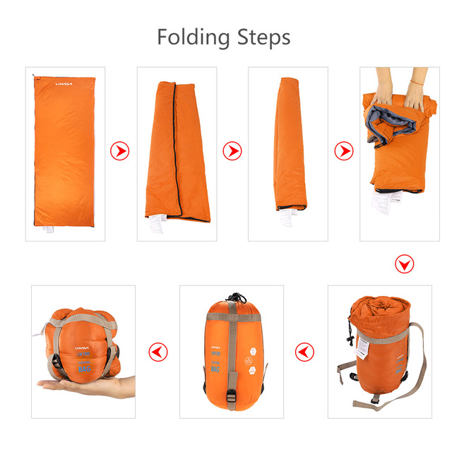 4a7f1217ee3c Lixada 190   75cm Outdoor Envelope Square Sleeping Bag Camping Travel  Hiking Multifunction Ultra-light 680g Sleeping Bed