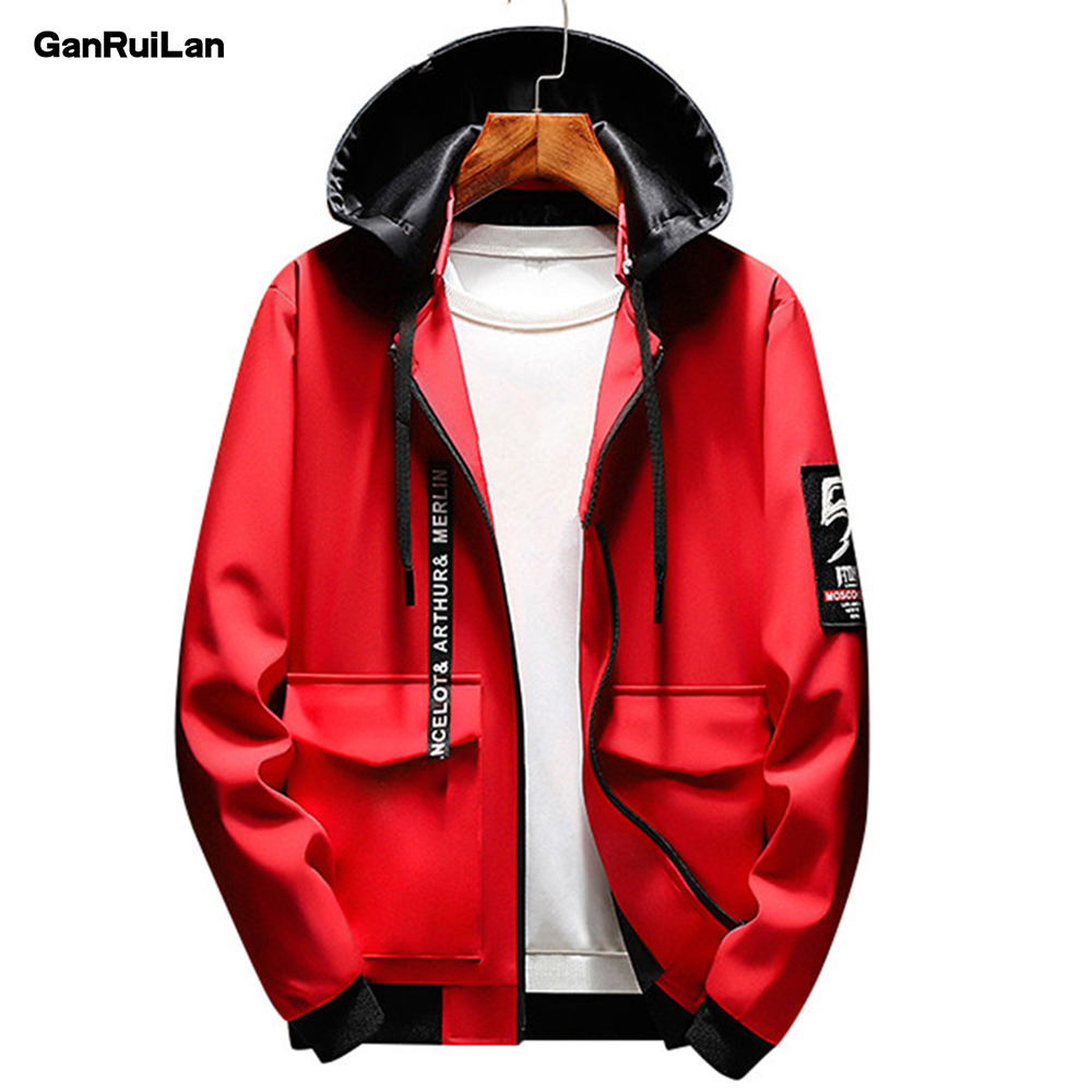 Autumn Bomber Hooded Jacket Men Casual Slim Patchwork Windbreaker Jacket Male Outwear Zipper Thin Coat Brand Clothing JK18043
