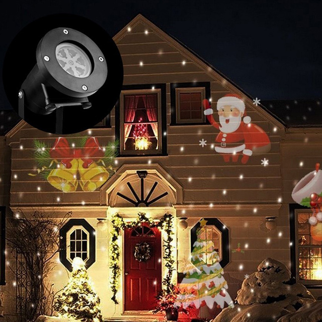 12 Types Christmas Laser Snowflake Projector Outdoor LED Lamp ...