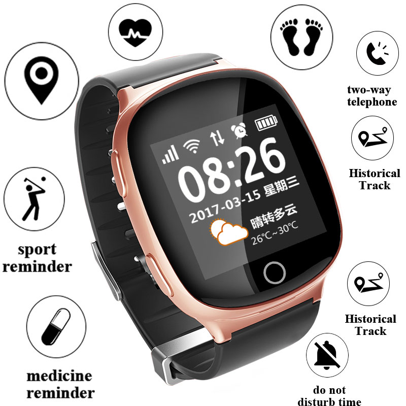 GPS Tracking Wristwatch GPS+LBS+WIFI Positioning Heart Rate Tracker SOS Medicine reminder Fall Alarm SOS Wristwatch for Elderly 3g gps tracker camera mini gps tracking kids child locator wcdma gsm track gps wifi lbs positioning sos pendant fall alarm