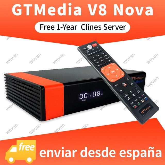1 سنة أوروبا Cline حقيقية Freesat GTMedia V8 نوفا كامل HD DVB S2 جهاز استقبال قمر صناعي نفس V9 سوبر ترقية من V8 سوبر ديكو
