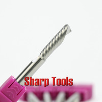 1pc Shank 6mm Cel17 32mm 1 Flute Left Spiral Milling Cutter Down Cut Router Bit Set CNC Carbide End Mill Tool on Acrylic Machine