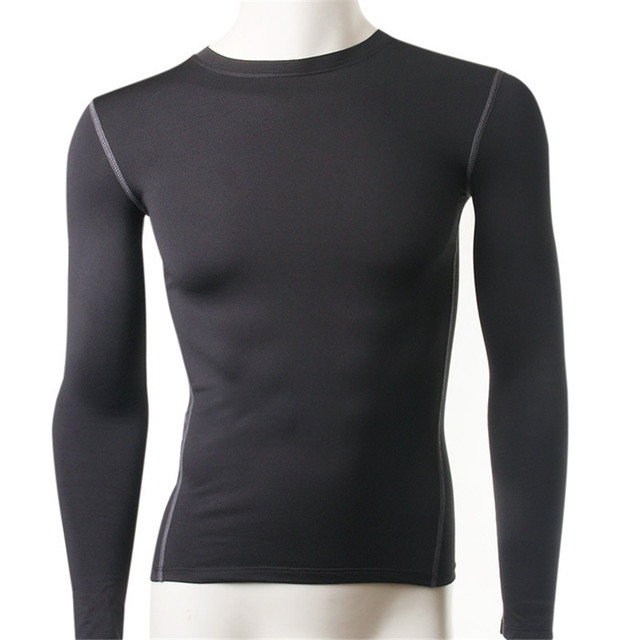thermal underwear men long sleeve t shirts warm tops compression ...