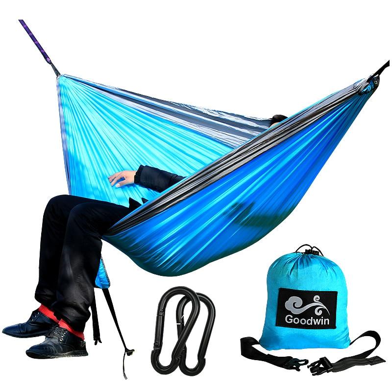 Portable Indoor Outdoor Hammock for Backpacking Camping Hanging Bed With Sleeping Hammock Flyknit Hamaca Garden Hamak Hamac