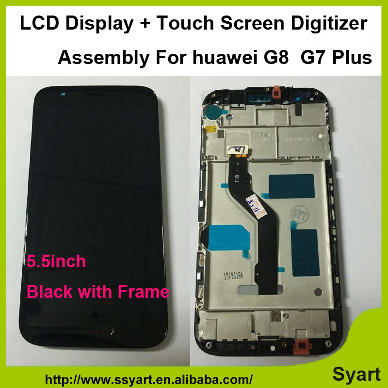 1 pcs Black Mobile Phone LCD Display Touch Screen Digitizer Assembly Replacements high quality with frame For Huawei Ascend G8