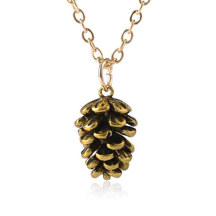 แฟชั่น Pine Tree ตัวอย่างสร้อยคอ Jewrly เทรนด์ Pine Tree ผลไม้สร้อยคอจี้คริสต์มาสสำหรับของขวัญผู้หญิงผู้หญิง