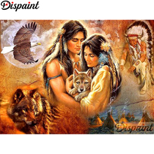 Dispaint Diamond Painting Full Square/Round Drill 5D DIY Couple wolf Daimond Embroidery Rhinestone Cross Stitch Decor A10983
