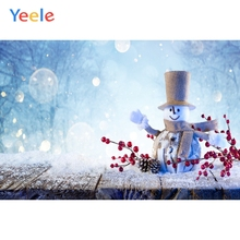 Yeele Christmas Party Photocall Snowman Wood Fruits Photography Backdrops Personalized Photographic Backgrounds For Photo Studio kate gray wood backgrounds for photo studio christmas with snowman scenic photography backdrops children gingerbread background