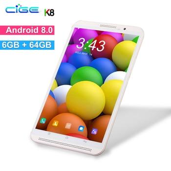 Envío Gratis Android 9,0 8 pulgadas tablet ordenador Octa Core 6GB RAM 64GB ROM de 8 núcleos 1280*800 IPS regalo tabletas Mediados de llamada de teléfono 10