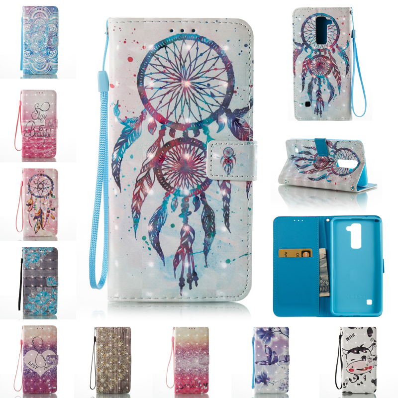Wallet Magnet Flip Leather Case For Fundas LG Stylus 2