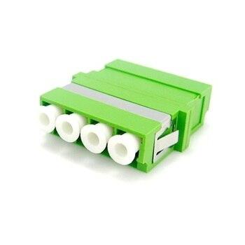 50pcs/lot LC-APC SM DX Coupler Fiber Adaptor Optical connecter flange single mode LC APC Adapter