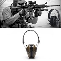 Tactical Force Headset Noise Reduction Foldable Hunting Shooting Headphone Anti noise Earmuff Hearing Protector|Tactical Headsets & Accessories| |  -
