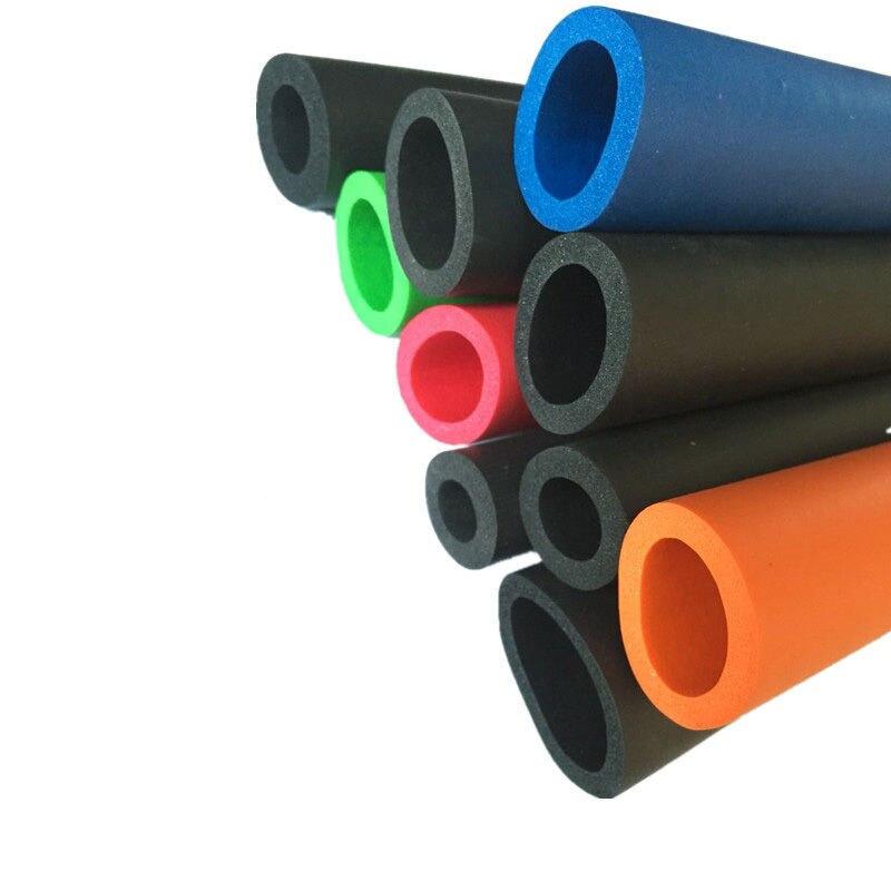1 M Fitness Ausrüstung Griff Bars Thermische Isolierung Rohr Schwamm Schaum Gummi Rohr Schwarz 6mm/10mm13mm/16 Mm/18mm (innen Durchmesser) Schrumpffrei