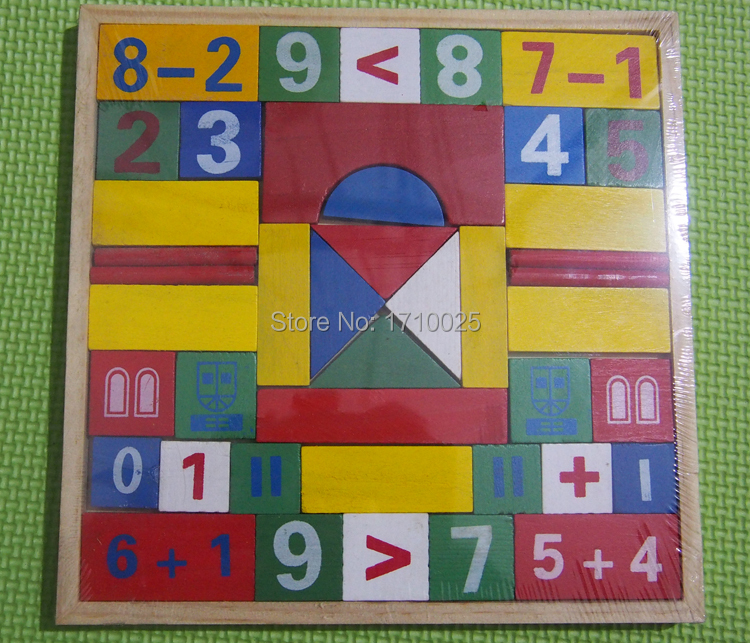 1PC Wooden Number Math Game Educational Toy Puzzle Teaching Aids Set ...
