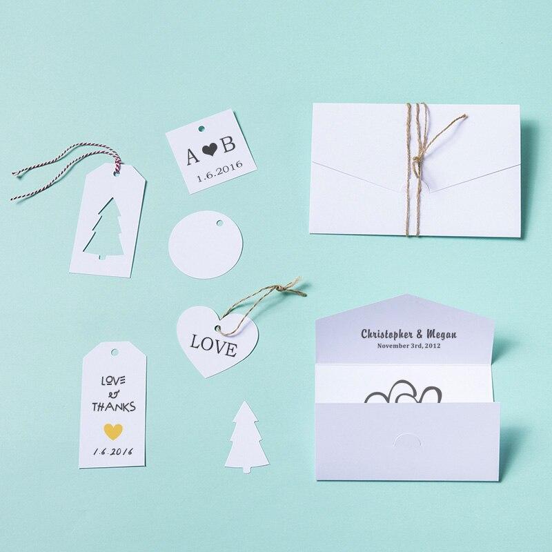 White Letter Envelope Greeting Card Set diy Blank Gift Handwritten Message Creative Festive Gift Hand Card Valentine's Day sizzix thinlits die set 7pk handwritten love