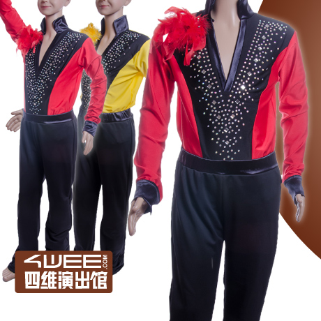 Boy s Latin Rumba Cha Cha Tango Dance Clothes shirt pants size 120 170CM Boys Dance
