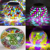 2017 New Quality DIY Color Changing Solar Outdoor Waterproof Solar Night Lights Table Lamps For Decor