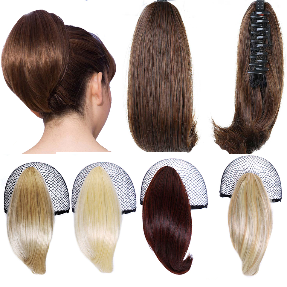 DIFEI Synthetic Women Claw On Ponytail Clip In Hair Extensions Straight  Pony Tail Hairpiece Black Brown Blonde Hairstyles H