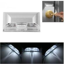 Wireless Auto Infrared IR Sensor Motion Detector Keyhole 4 LED Light Lamp Night Light