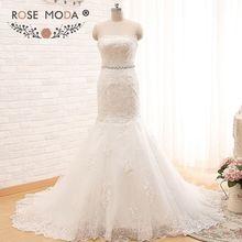 Rose Moda Strapless Plus Size Mermaid Wedding Dress