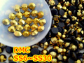 ss6,ss10,ss16,ss20,ss30 Gold Hematite High Quality DMC Iron On Glass Rhinestones / Hot fix Crystal Rhinestones
